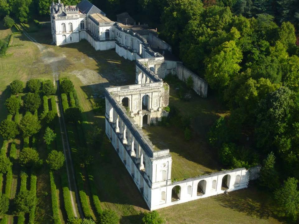 Château de la Mercerie - vue aérienne