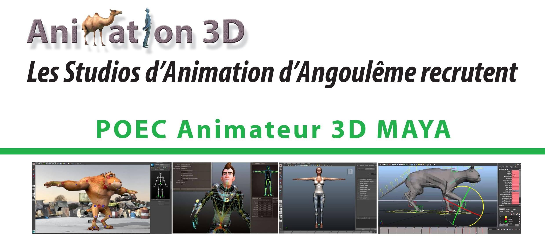 flyer POEC animateur 3D Maya 2018 version 2 aplati