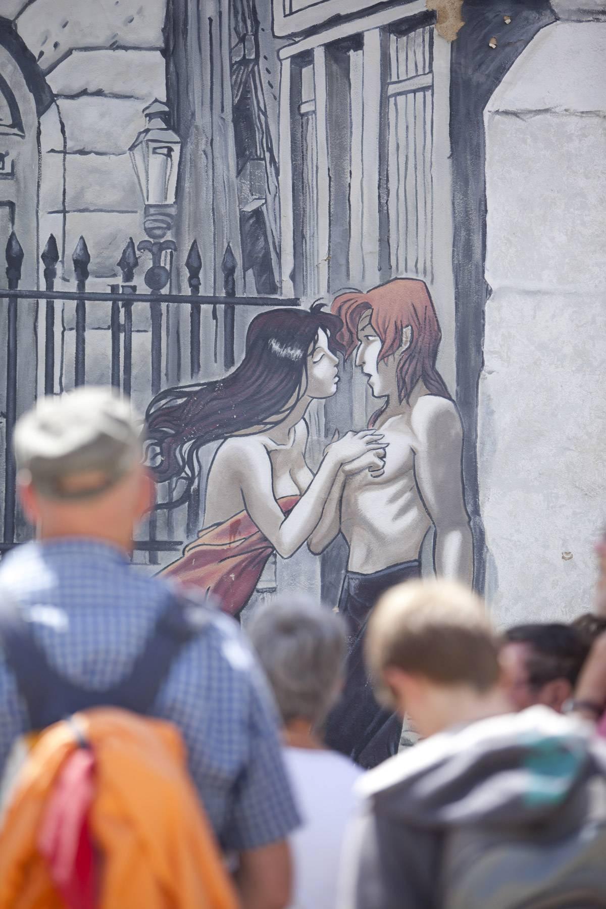 Circuit des murs peints - Mur peint - Le baron noir - © LAVAL Sébastien - Charente Tourisme