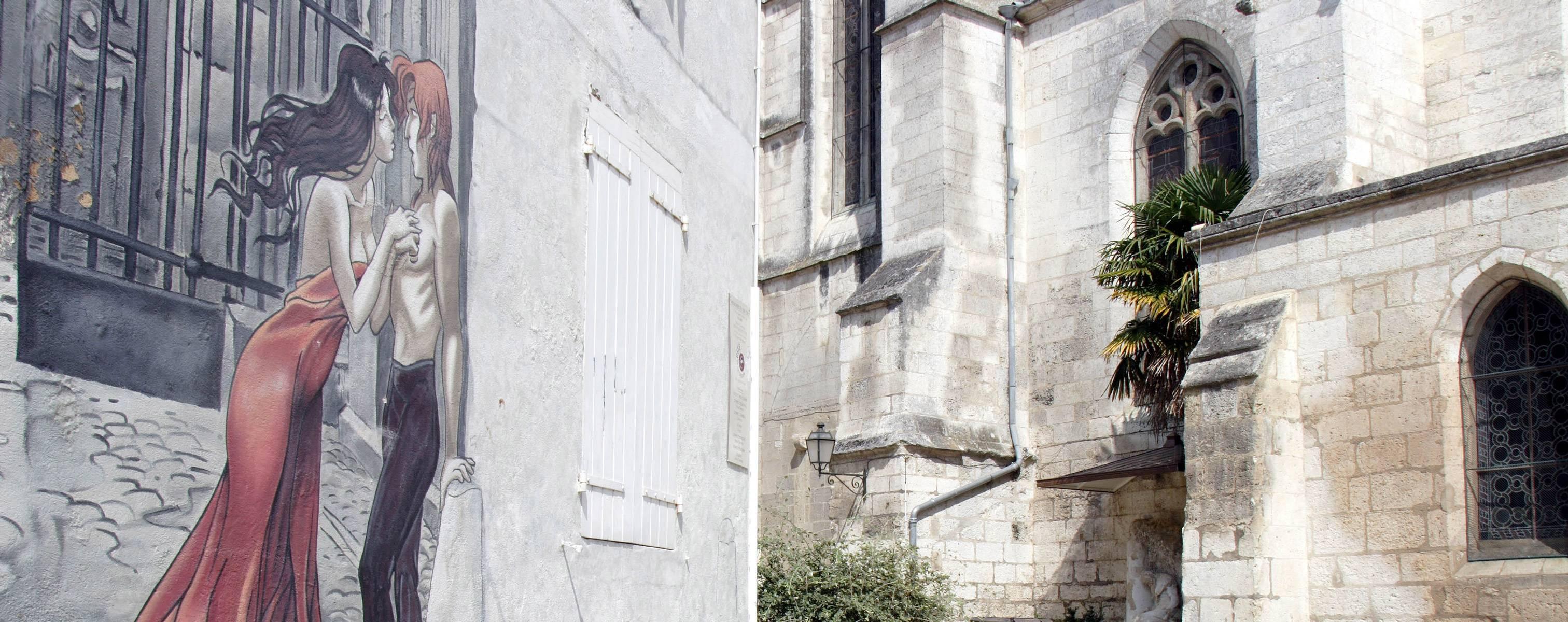 Mur peint - Mémoires du XXème siècle - © LAVAL Sébastien - Charente-Tourisme
