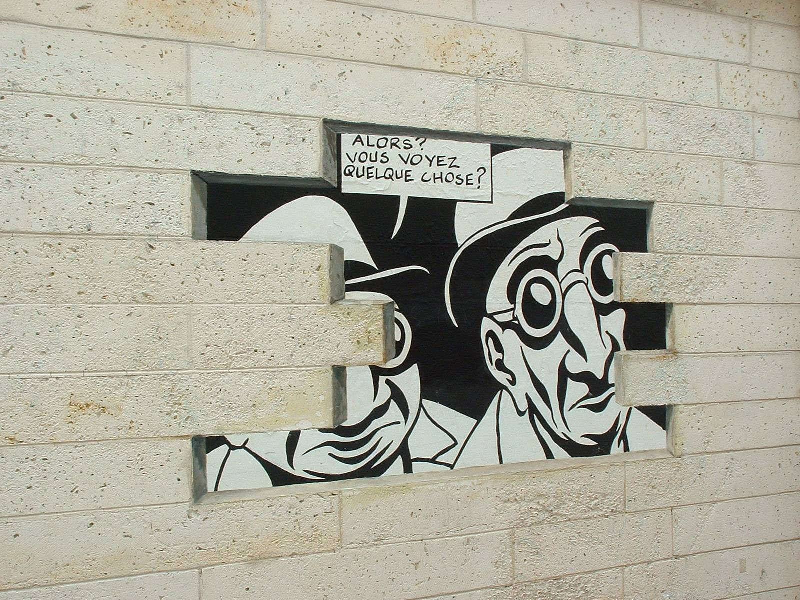 Mur peint - Réalité sortie de secours - © LAVAL Sébastien - Charente-Tourisme