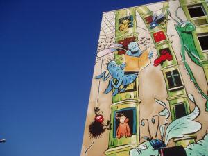 Mur peint - Le jardin extraordinaire - © Charente-Tourisme
