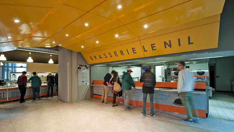 """Brasserie """"le nil"""" au sein de l'Enjmin"""
