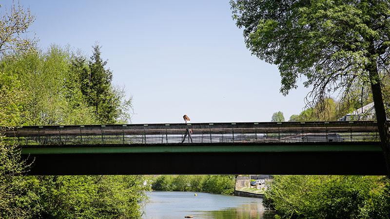 Passerelle sur la Charente
